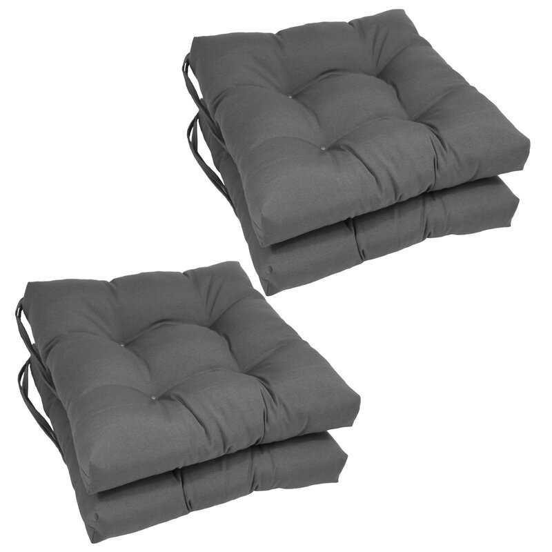 Andover Mills Dining Chair Cushion  Color: Grey