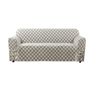 Buffalo Check Box Cushion Sofa Slipcover by Sure Fit