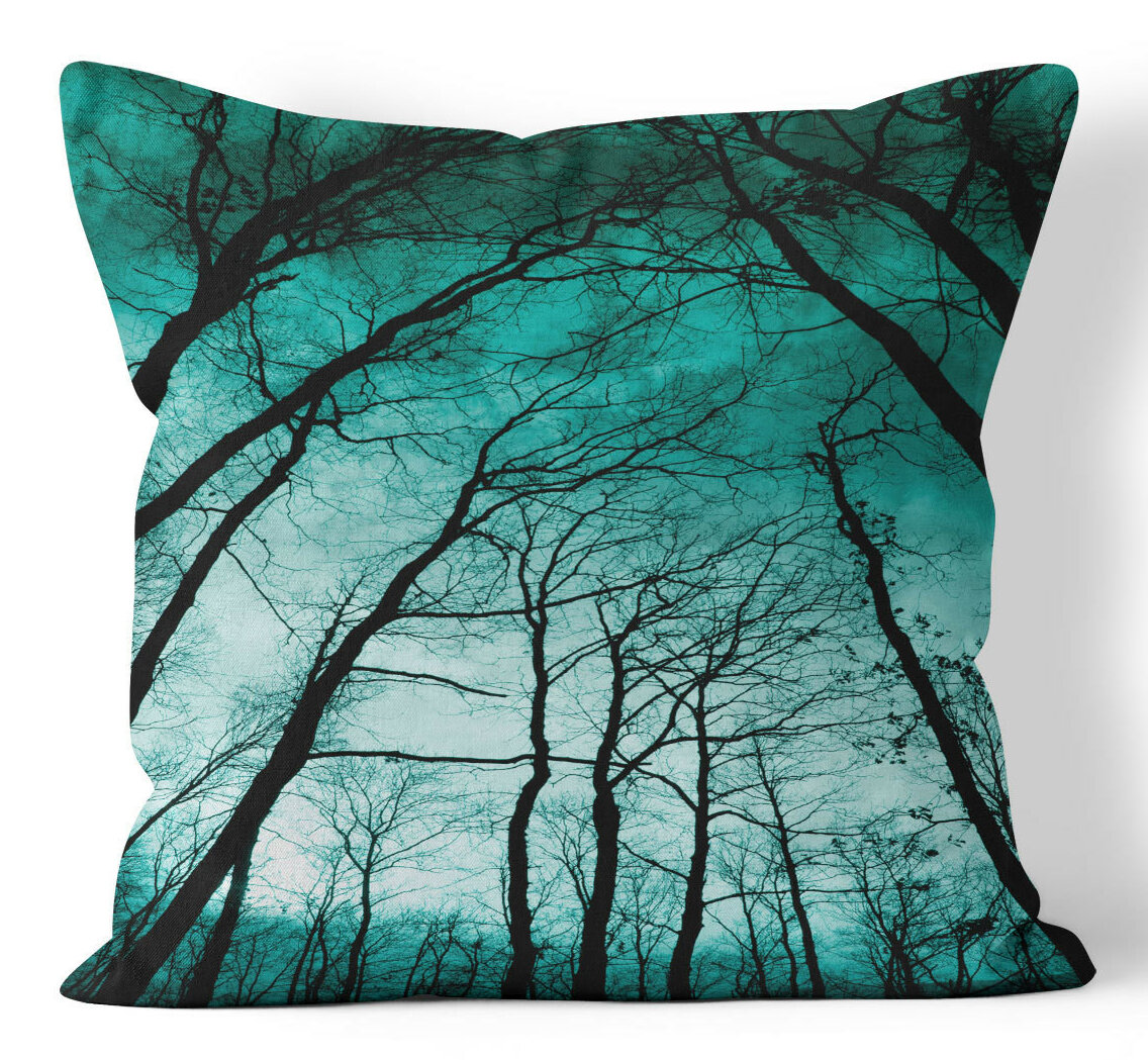 Wayfair Teal Throw Pillows : Ziya Blue Teal Forest Throw Pillow Wayfair