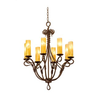 Vine chandelier wayfair vine 8 light candle style chandelier aloadofball Image collections