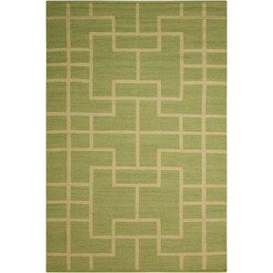 Maze Legra Hand-Woven Green Area Rug