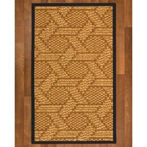 Aalin Hand Woven Brown Blue Area Rug