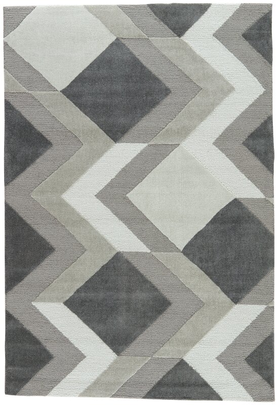 Black And Tan Area Rugs ebern designs shayla hand-tufted greige/cream/tan area rug