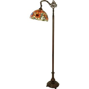 lamps shade floor ip liaison tiffany lamp light with style chloe torchiere victorian lighting