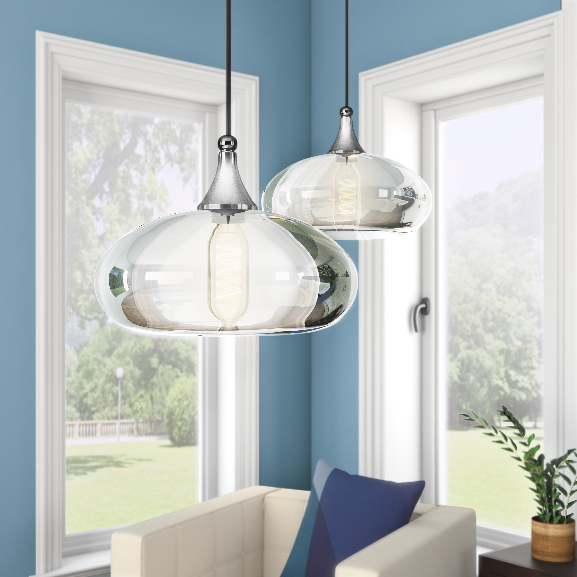 Wrought Studio Scalf 1-Light Mini Pendant & Reviews | Wayfair