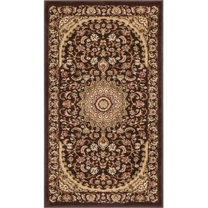 Amazing Colindale Traditional French Country Oriental Persian Brown Area Rug