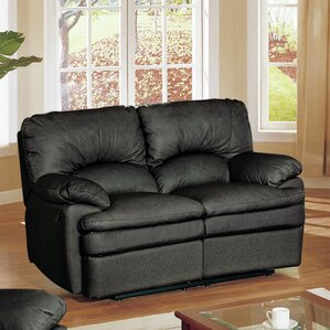 Haines Top Grain Leather Reclining Loveseat by Wildon Home ?
