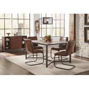 Tuscarora Genuine Leather Upholstered Dining Chair Set Of 2