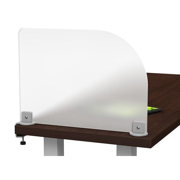 Merge Works Studio Wings Acrylic Clamp On Privacy Desk Divider U0026 Reviews    Wayfair