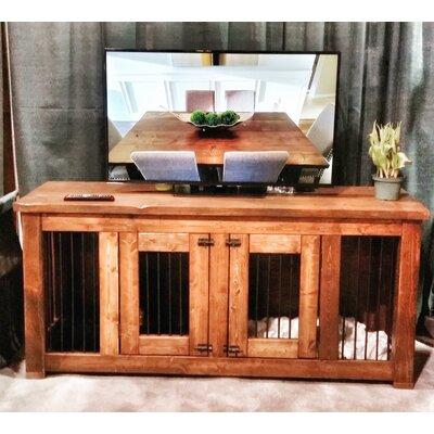 single canine console pet crate