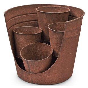 Kolambe Open Metal Plant Pot by Brick & Barrow