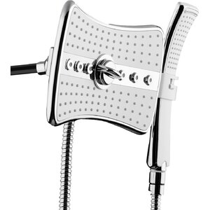 2.5 GPM Rainfall 2 Piece Jet Shower Head and Handheld Shower Wand Set