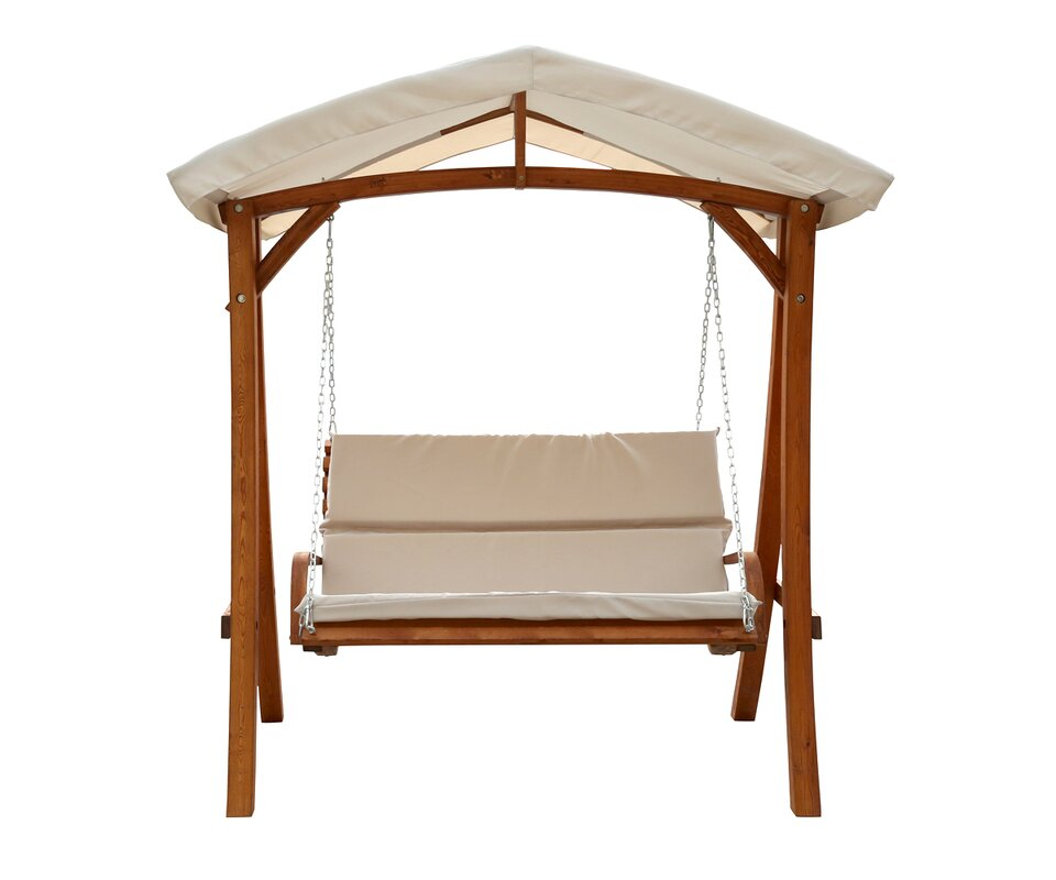 Porch Swing with Canopy  sc 1 st  Wayfair & Leisure Season Porch Swing with Canopy u0026 Reviews | Wayfair