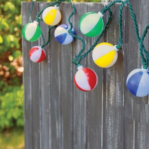 10-Light 7.5 ft. Ball String Lights