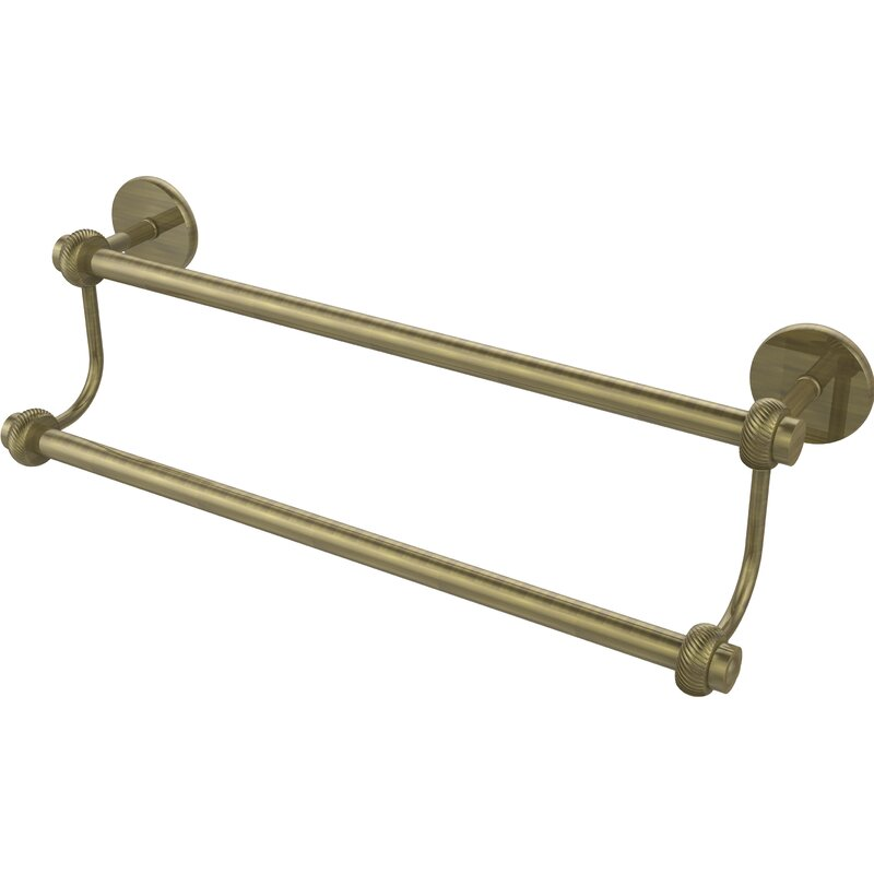 Allied Brass 7272T//24-ABR 24 Inch Double Towel Bar Antique Brass
