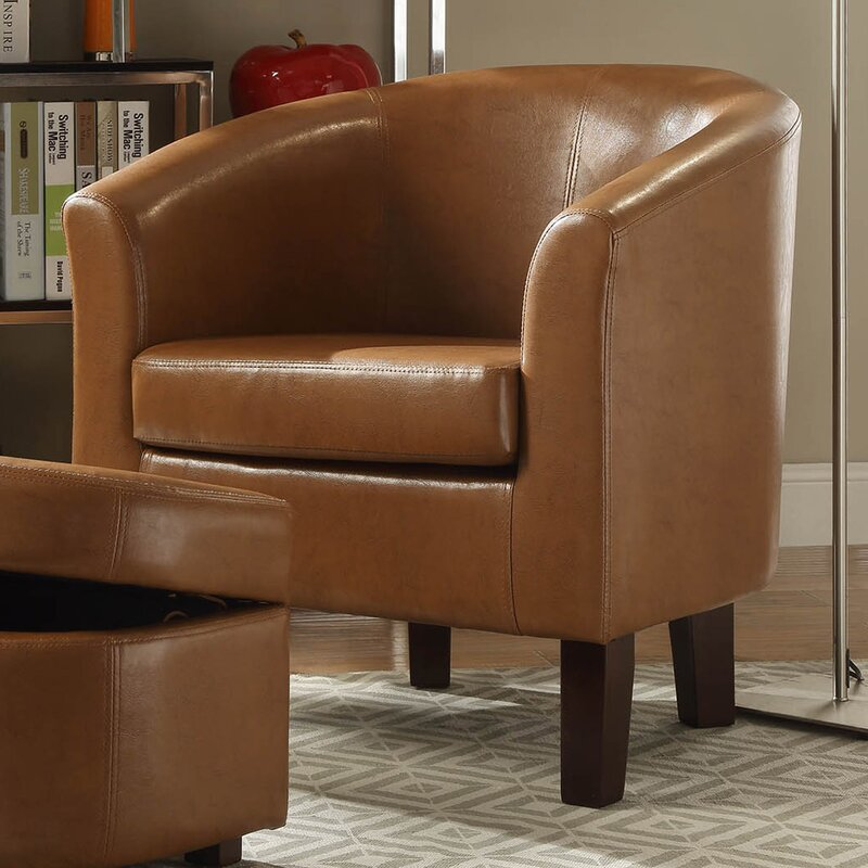 Altoga Barrel Chair And Storage Ottoman Amp Reviews Birch Lane
