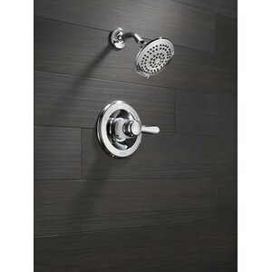 Lahara Thermostatic Shower Faucet Trim with Lever Handles and H2okinetic Technology