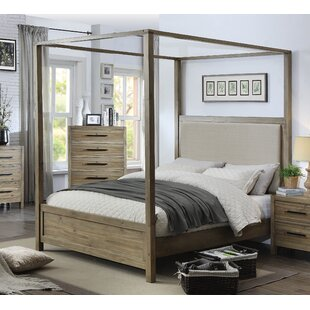 Tyngsborough Upholstered Canopy Bed & Wood Canopy Bed Frame | Wayfair