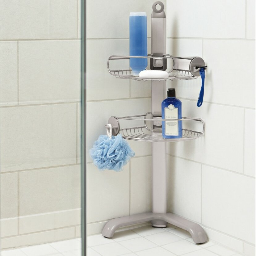 simplehuman Metal Free-Standing Shower Caddy & Reviews | Wayfair.co.uk