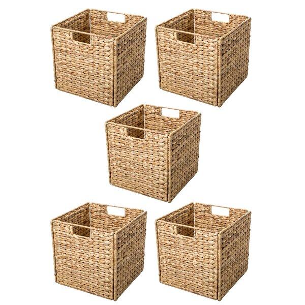 Trademark Innovations Hyacinth Foldable Storage Basket With Iron Wire Frame  U0026 Reviews | Wayfair