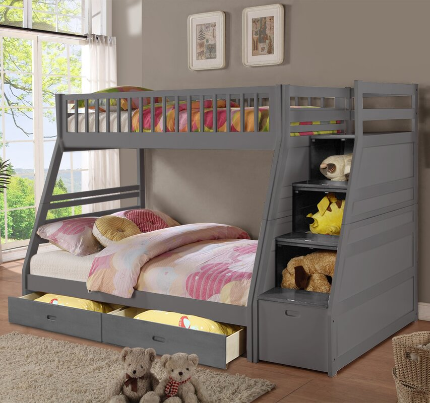 Beds With Drawers Part - 28: Walter Twin Over Full Bunk Bed With Drawers