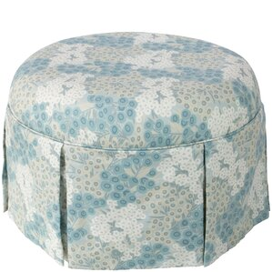 Labrosse Round Skirted Ottoman by August Grove