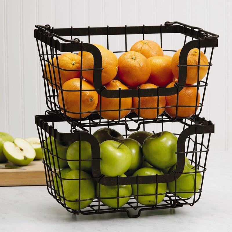 Stacking/Nesting Metal Basket
