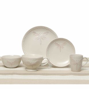 Dragonfly 5 Piece Place Setting Service for 1  sc 1 st  Wayfair & Dragonfly Dinnerware | Wayfair