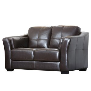 Mathers Premium Leather Loveseat by Darby Ho..
