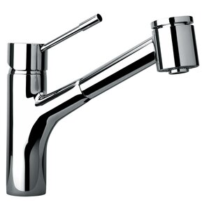Jewel Faucets J25 Kitchen Series Single Hole Kitchen Faucet with Pull Out Spray Head