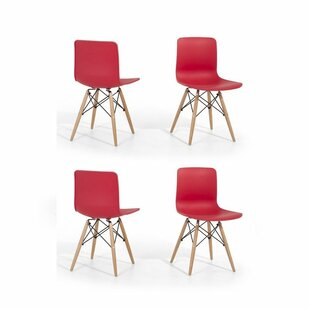 Eiffel Style Bobbitt Solid Wood Dining Chair (Set of 4)