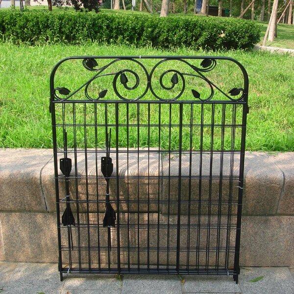 Iron Fence Panels >> Wrought Iron Fence Panels Wayfair