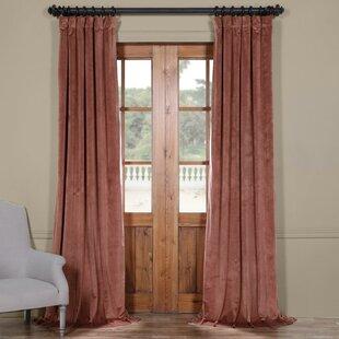 Riverton Solid Room Darkening Rod Pocket Single Curtain Panel