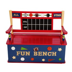 All Star Sports Kids Bench with Storage Compartment by Levels of Discovery