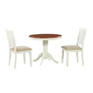 Cedarville 3 Piece Carved Solid Wood Dining Set