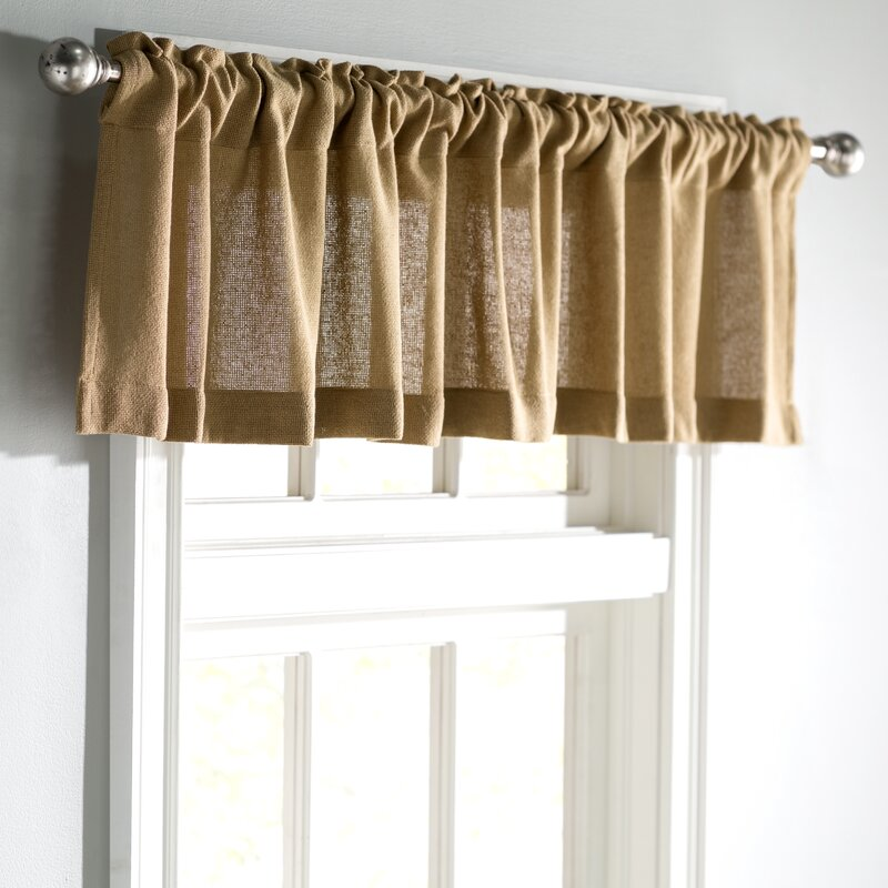 Ophelia & Co. Roxane Burlap Natural Curtain Valance