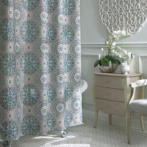 navy and tan shower curtain. Byard Shower Curtain Blue Curtains You ll Love