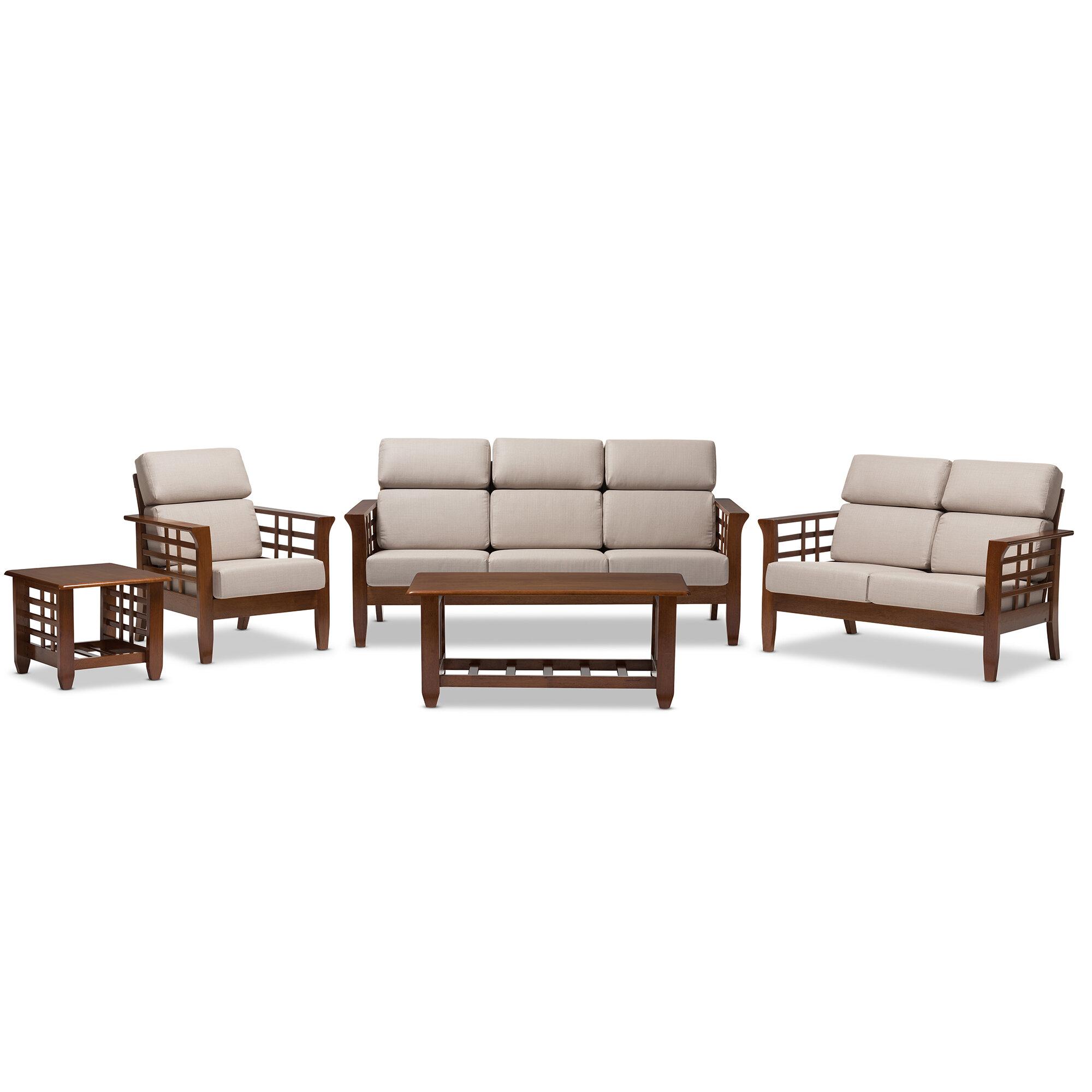 Latitude Run Mayon 5 Piece Living Room Set | Wayfair