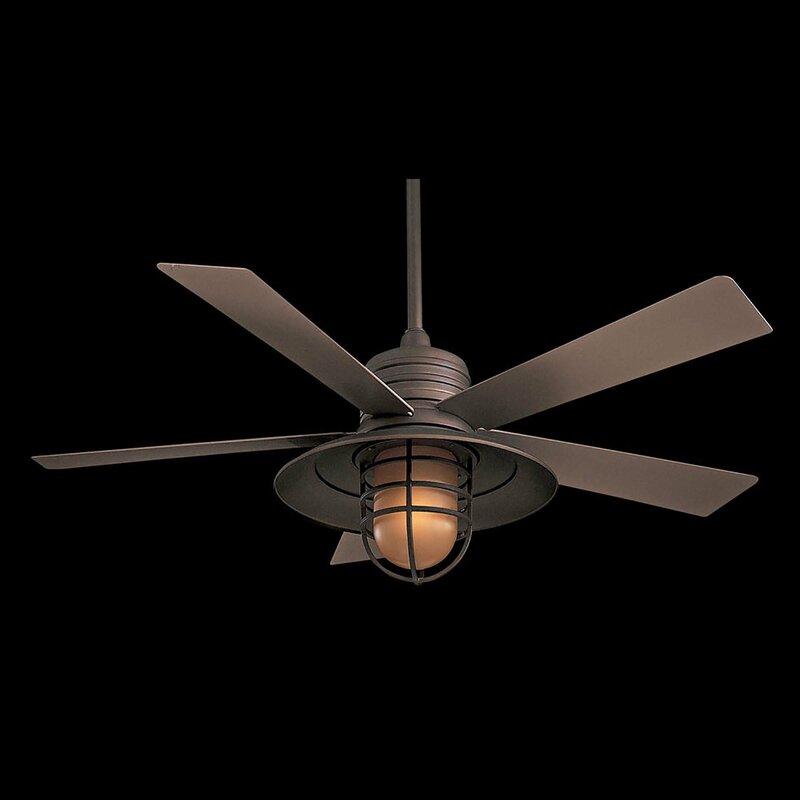 54 Rainman 5 Blade Outdoor Led Ceiling Fan