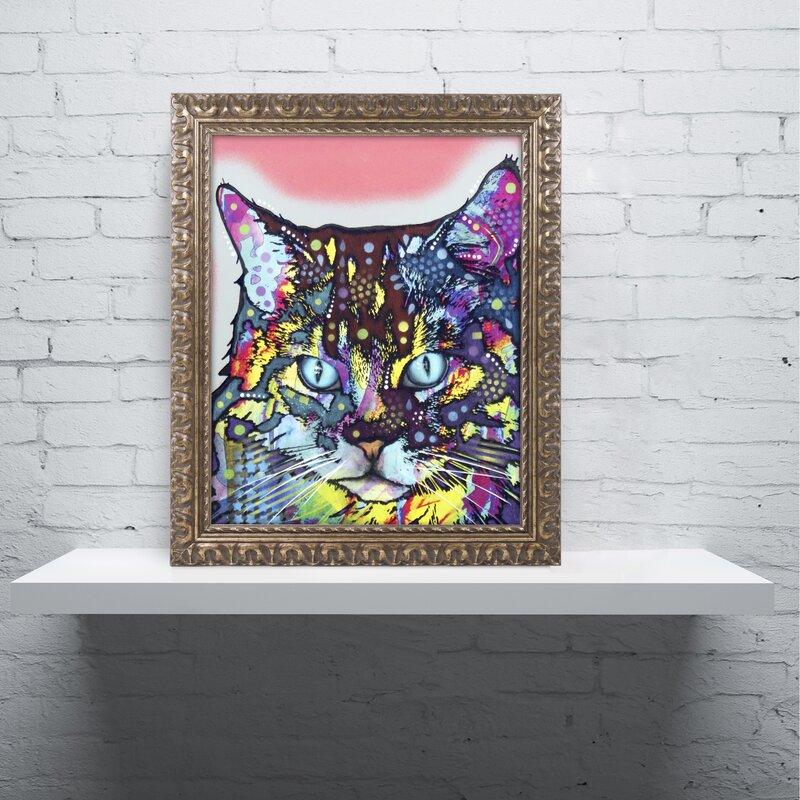 'Maine Coon' Ornate Framed Graphic Art on Canvas