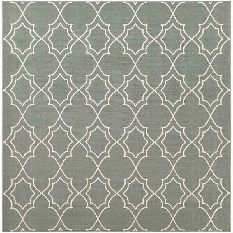 Alcott Hill Amato Power Loomed Green Indoor/Outdoor Area Rug, Size: Square 73