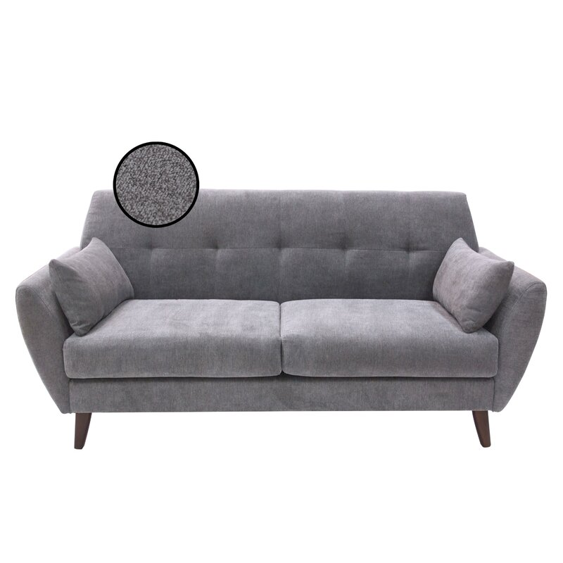 Hashtag Home Alsacia Mid-Century Modern Loveseat & Reviews | Wayfair