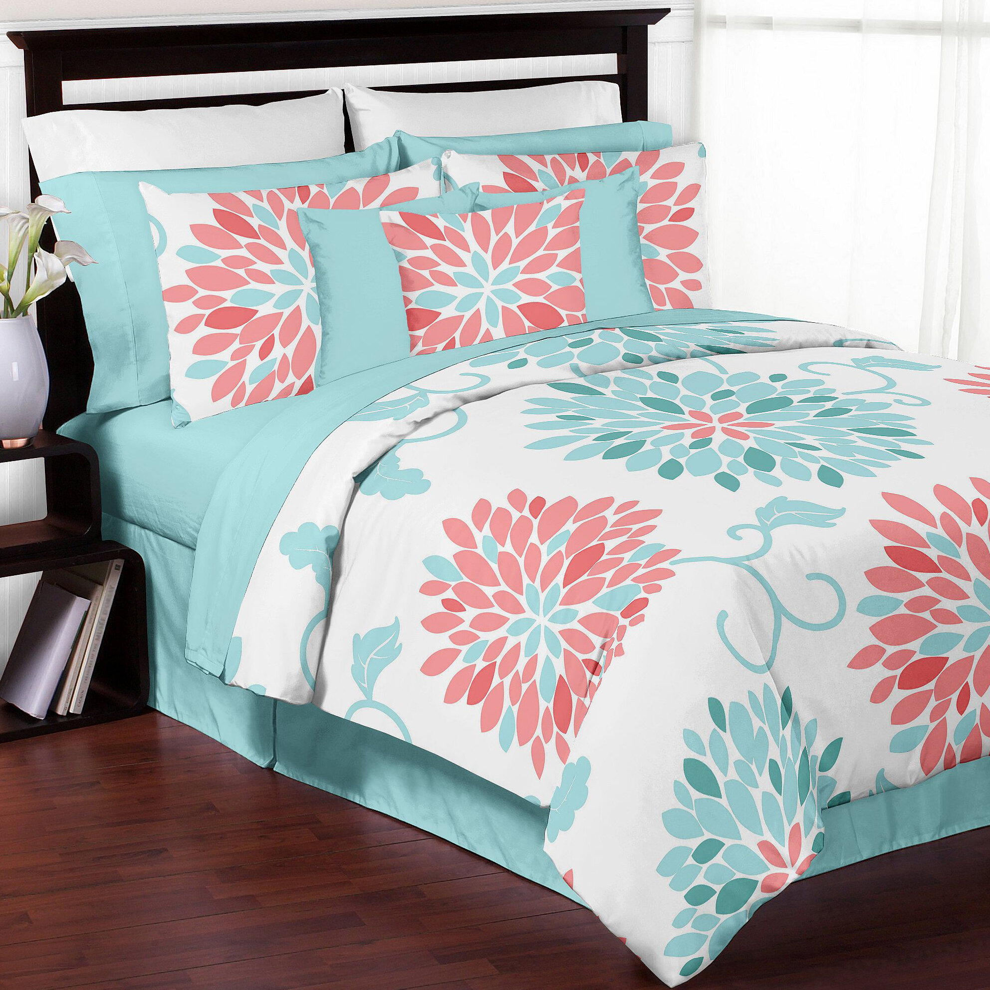hr main bed coral bedeck bedding heidi helena springfield hs at