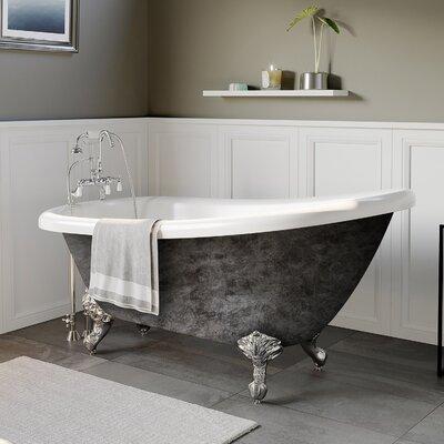 "Acrylic Slipper 67"" X 28"" Clawfoot Soaking Bathtub Cambridge Plumbing"