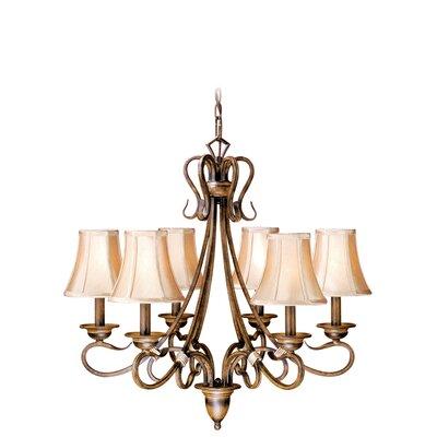 Berkeley 6 light shaded chandelier