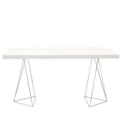 Brayden Studio Durkee Dining Table Color: Pure White, Size: 63