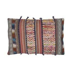 cammi rectangular recycled synthetic fibers throw pillow