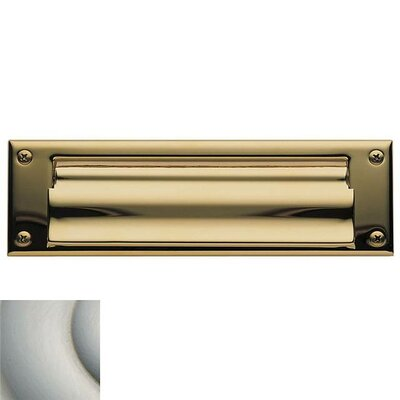 Baldwin 10 in x 3 Brass Mail Slot Color: Lifetime Satin Nickel