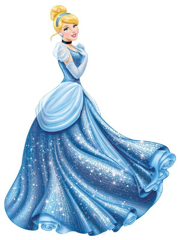Room Mates Popular Characters Disney Princess Cinderella Glamour Giant Wall Decal Amp Reviews