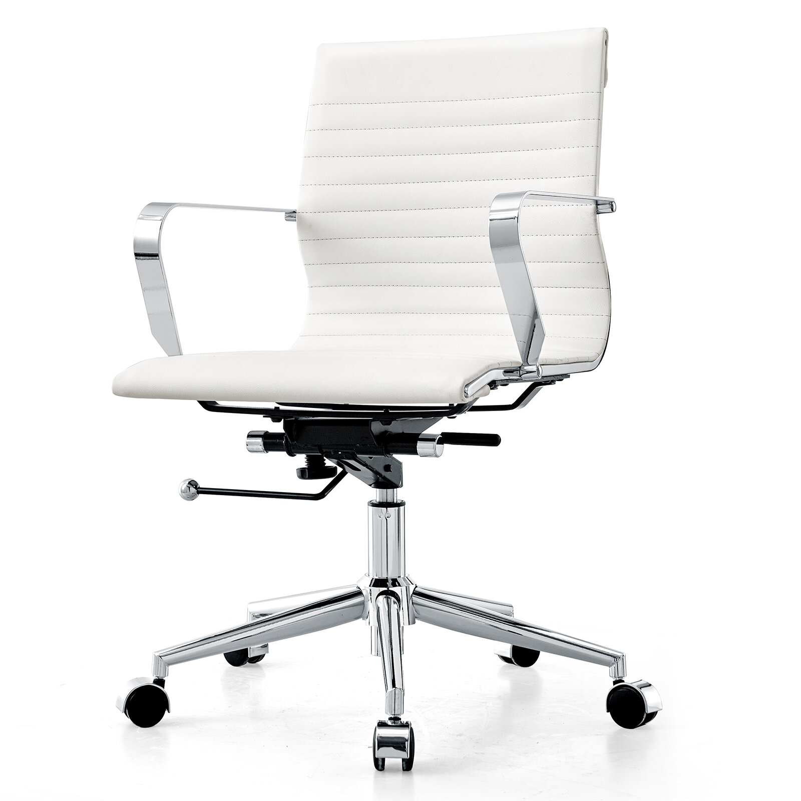 Beau Meelano Mid Back Office Chair U0026 Reviews | Wayfair